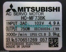 new HC-MF73BK Mitsubishi Servo Motor 90 days warranty - $570.00