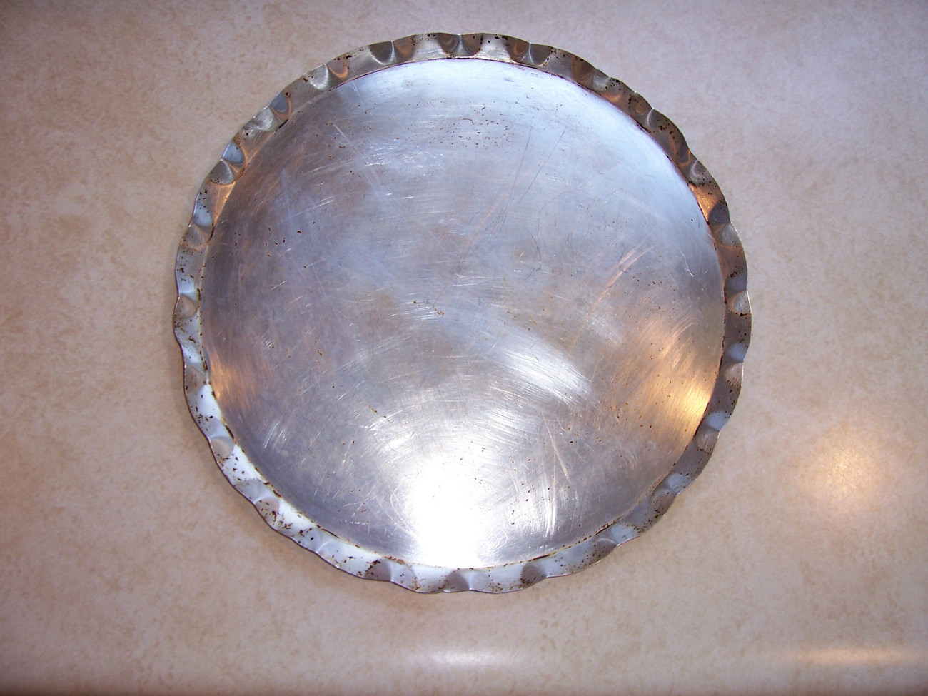 Primary image for Vintage Flat Pan Fluted Aluminum
