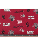 OU Boomer Sooner Fabric, Oklahoma University co... - $10.98