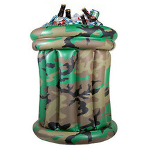 Camouflage Portable Inflatable Cooler Two Lumps of Sugar Army Chillers  ... - $29.95