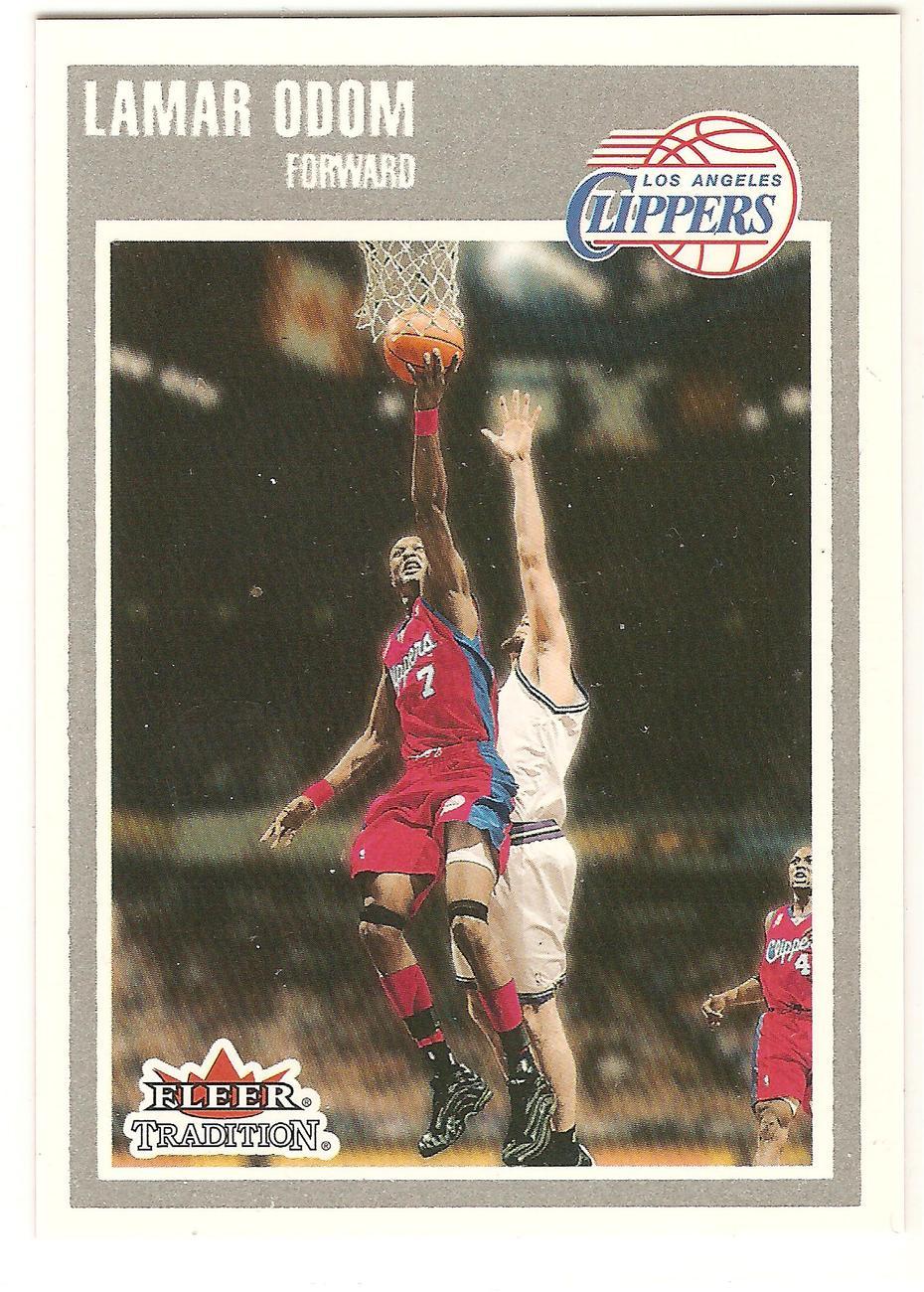 Lamar Odom Fleer 02-03 Crystal #57 Los Angeles Clippers Lakers Dallas Mavericks