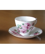 1940s Royal Vale Tea Cup Saucer Set, Pink Pansy... - $16.96