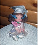 """Precious Moments Plush 14"""" Gwen White Graduate in Cap Gown Carries Roses - $12.95"""