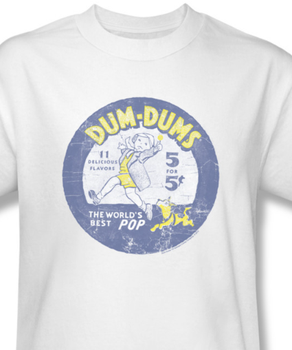 Dum-Dum T-shirt retro distressed lolipops candy 100% cotton tee DUM110