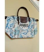 Paris France GLOBE Leather Duffle Bag NWT - $18.80