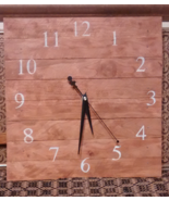 Cherry Wood Slat Clock by Clear Creek Mercantile - $30.00