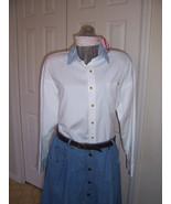 White Button Down Blouse Women's - $23.39