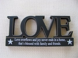 11146A - Love Tabletop Cutout Free Standing Wood - $7.95