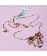 Women's Colorful Gemstones Drop Y Necklace by MONET - New! - $19.95