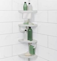 ShowerTub Corner Tension Pole Caddy Rack Shelf Shower Bathtub Bathroom O... - $63.20