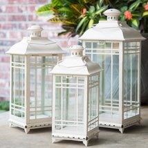 Lillian Off-White Metal Lanterns - Set of 3 - $77.91