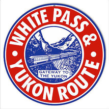 Reproduction White Pass & Yukon Route Railroad Metal Sign 14 Round - $23.76
