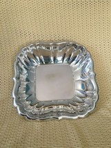 Antique 1954 REED & BARTON silverplate ? bowl fancy fluted sides scallop... - $32.30
