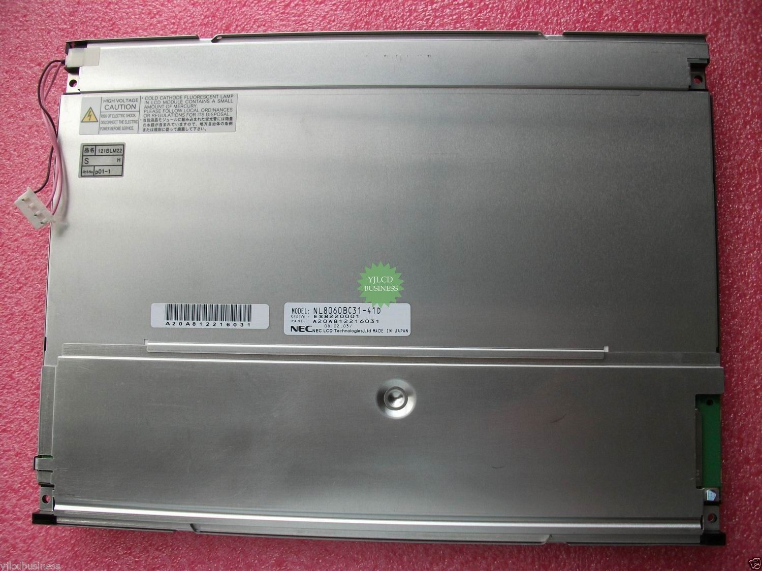 NEC NL8060BC31-41D 12.1 inch Industrial LCD screen