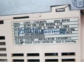 YASKAWA CIMR-J7ACB0P4 VS MINI J7 0.55KW 220V for industry use 60 days wa... - $126.35
