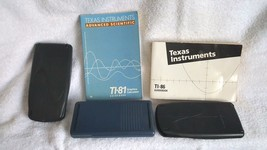 3 Texas Instrument Calculators Ti-81 Ti-83 Ti-86 Two Manuals - $45.00