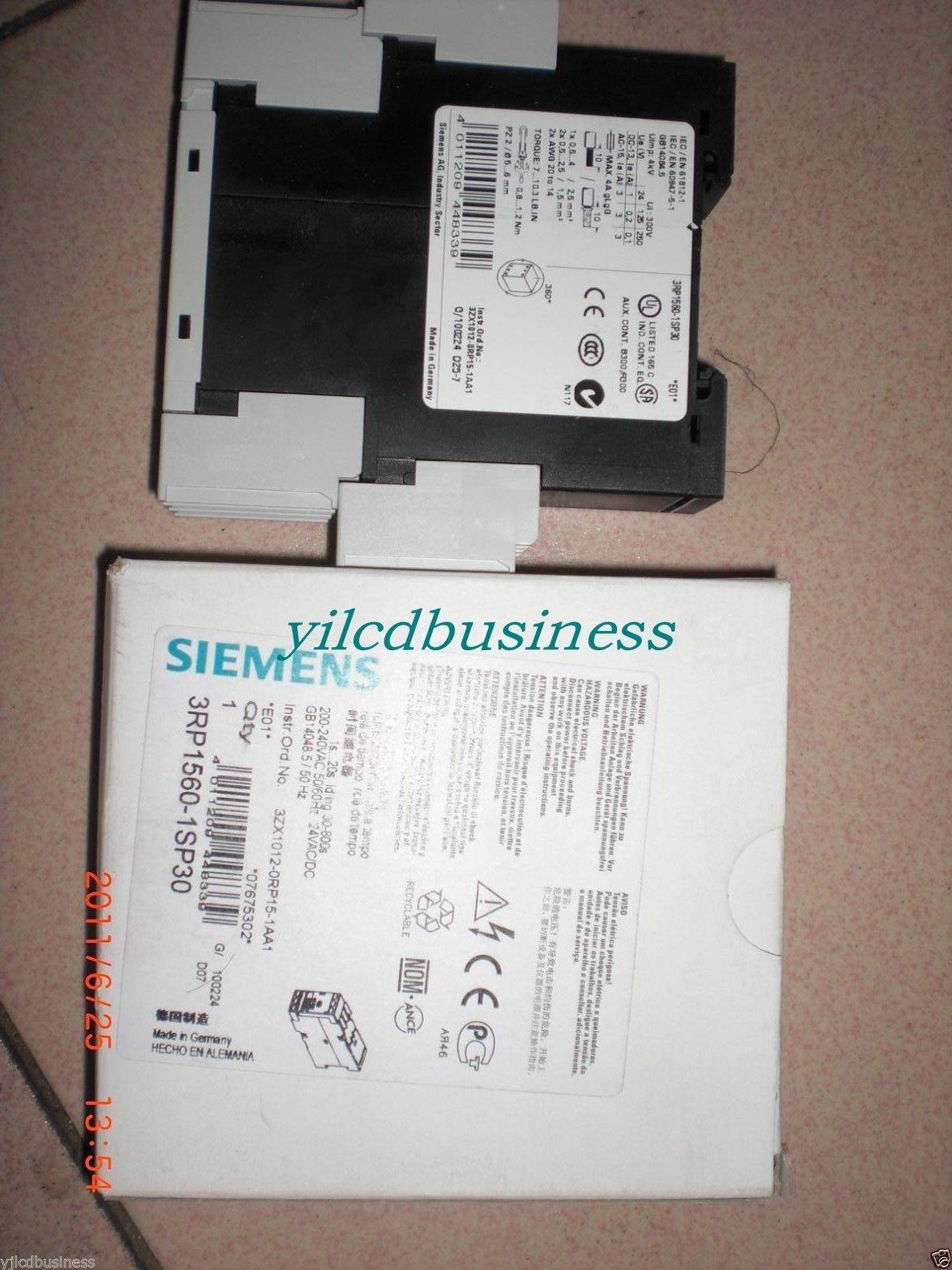 new SIEMENS 3RP1560-1SP30 Siemens relay 90 days warranty