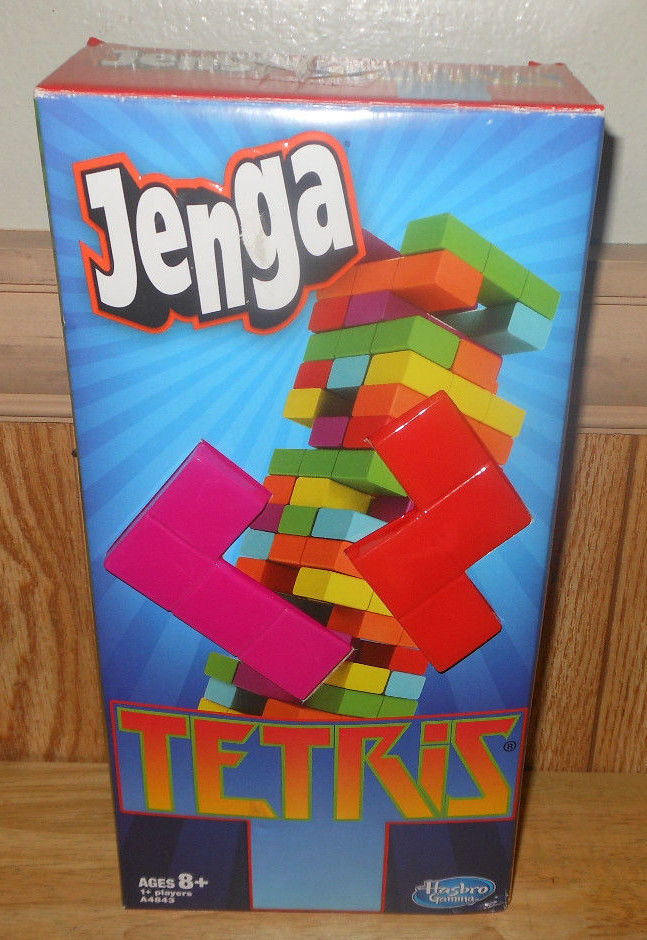 Primary image for Hasbro Jenga Tetris Game with Instructions COMPLETE