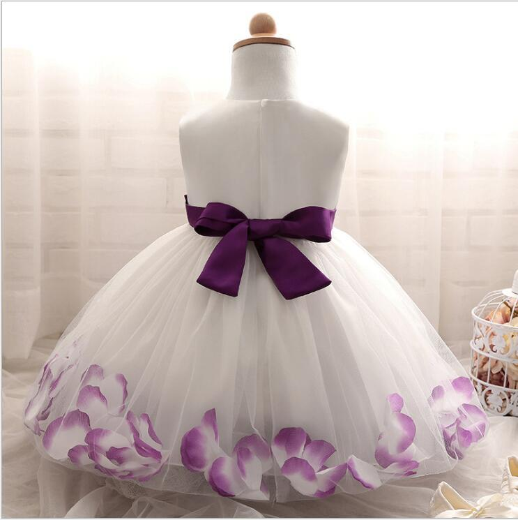 Cute White Ball Gown Flower Girl Dresses O-Neck Kids Pageant Party Gowns Cosplay