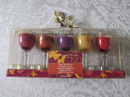 Chesapeake Bay Candle - Set of 5 Mini Wine Glas... - $12.99