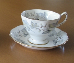 Royal Albert Silver Maple Tea Cup and Saucer, English Bone China, Malver... - $34.96