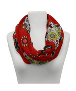 Deep Red Multi Color Infinity Spring Fashion Scarf   $19.95 - $19.75