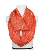 Orange Infinity Dragonfly Print Spring Fashion Scarf in Cora $19.95 - $19.75