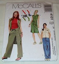McCall's 4101 Junior's Top, Dress, Belt and Pants Size JA (3/4, 5/6, 7/8, 9/10) - $11.76