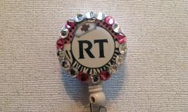 Rt Respiratory Tech Badge Reel - RT Id Holder Lanyard - Swarovski Alliga... - $9.95