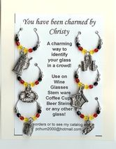 Germany German Themed Wine Charms w Pouch - $18.00