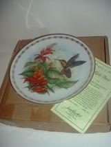 Hamilton Collection Ruby Topaz Hummingbird by Landeberger Plate w Box COA - $19.99