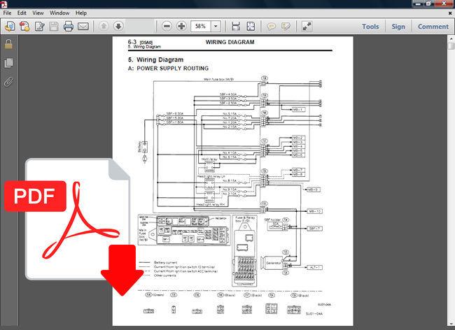 Subaru Forester 1998 1999 2000 2001 2002 Repair Service Manual   Wiring Diagram