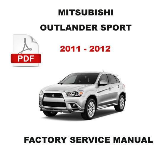 Mitsubishi 2011 2012 Outlander Sport Oem Service Repair