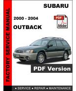 2000 2001 2002 2003 2004 SUBARU OUTBACK FACTORY WORKSHOP SERVICE REPAIR ... - $14.95