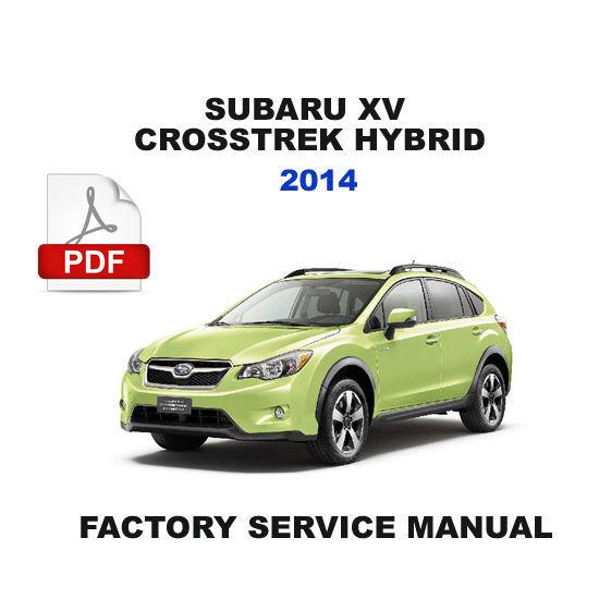 2014 subaru xv crosstrek hybrid h4dohev hybrid electric vehicle system manual other car manuals. Black Bedroom Furniture Sets. Home Design Ideas