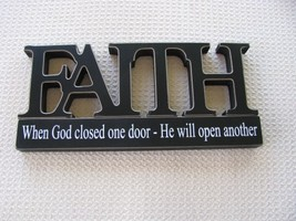 11146C- Faith Tabletop Cutout Free Standing Wood - $7.95