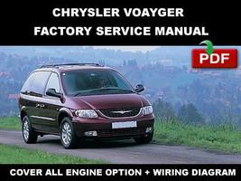 Chrysler Voyager 2001   2005 Factory Service Repair Manual + Wiring Diagrams - $14.95