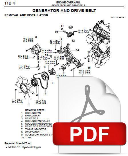 2000 2004 mitsubishi montero sport suv 6 g74 and 50 similar items rh bonanza com mitsubishi pajero 6g74 service manual mitsubishi 6g74 engine workshop manual pdf