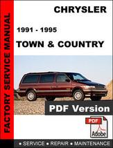1991 1992 1993 1994 1995 Chrysler Town & Country Factory Service Repair Manual - $14.95