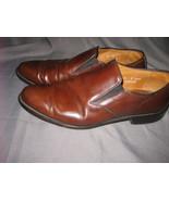 ALLEN EDMONDS 'Bristol Brown Leather Men's Plain Toe Slip-on Dress Loafe... - $55.00
