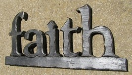16032B- Faith Block Resin Free Standing  - $7.95