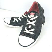 Converse Ox Black Womens Trainers 7 Denim Canvas Sneaker Tennis Shoe 542... - $44.54