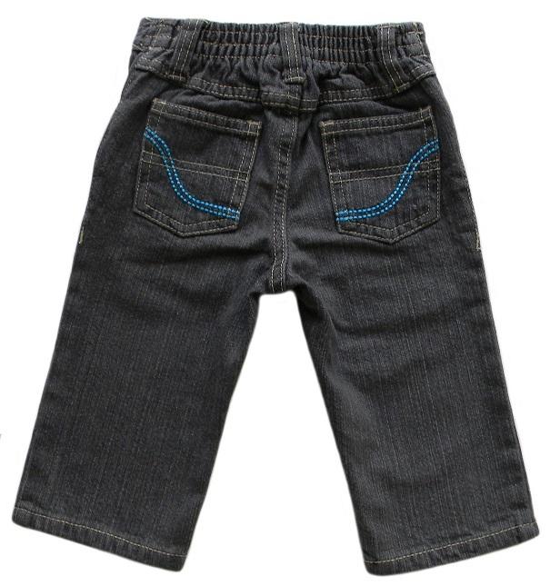 U.S. Polo Assn. 12 Mos. Baby Boys Charcoal Gray Denim Jeans