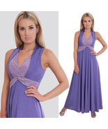 MontyQ Summer Bridesmaid Holiday Maxi Dress Lavender UK Design - $25.00