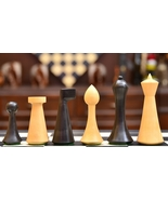 """18 BC-AD 19 Minimalist Hermann Ohme Chess Set in Dyed Boxwood - 3.74"""" S1273 - $102.99"""