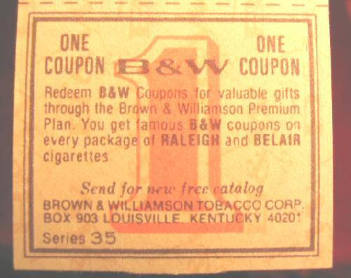 Hundreds Vintage B&W Raleigh Obscolete Cigarettes Coupons