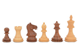 "Fierce Knight Staunton Wooden Chess Pieces in Sheesham/Box Wood- 3.0"" King-M0008 - $91.99"