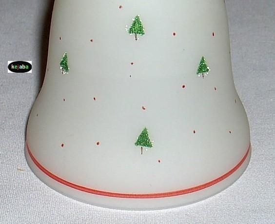 Fenton Winter Petite Bell Artist Signed