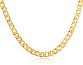Goldtone Brass 24 Inch 4mm Cuban Chain - $6.81