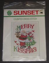 Vintage 1982 Sunset Merry Kissmas Counted Cross Stitch Kit NIP #2910 - $12.99